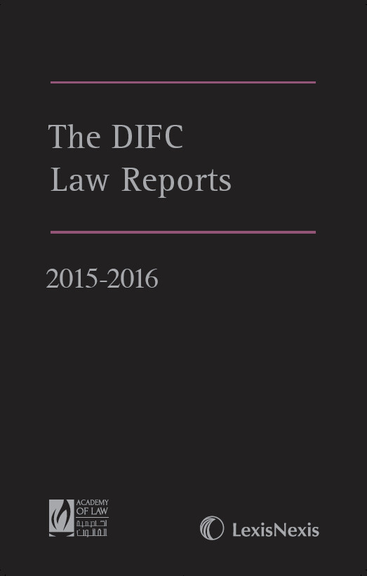 The DIFC Law Reports - 2015/2016