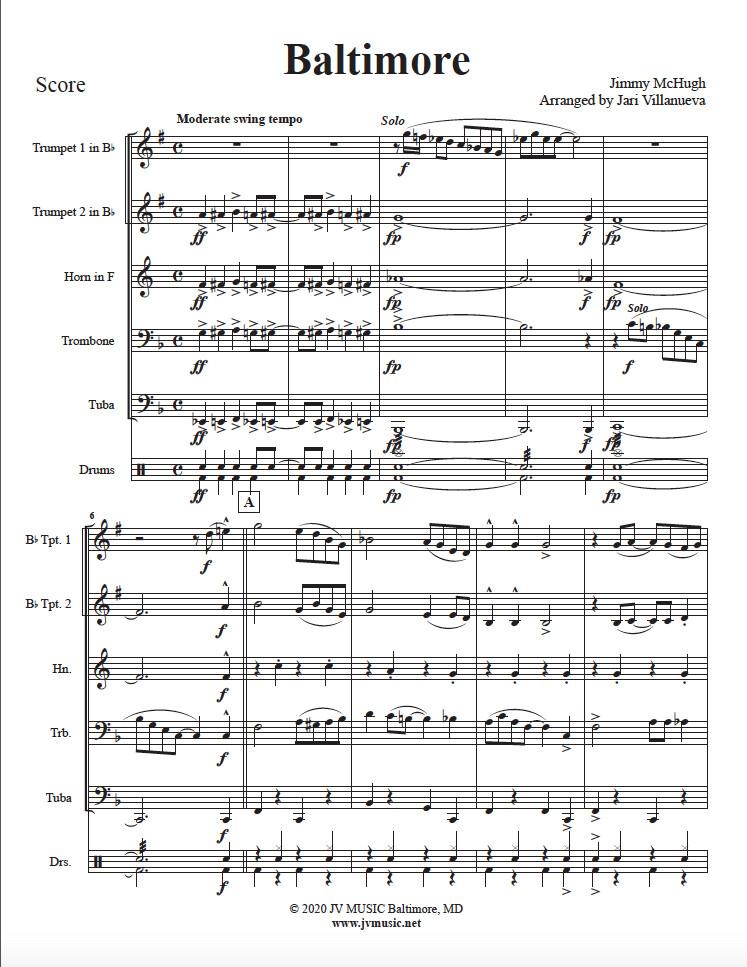 Baltimore for Brass Quintet
