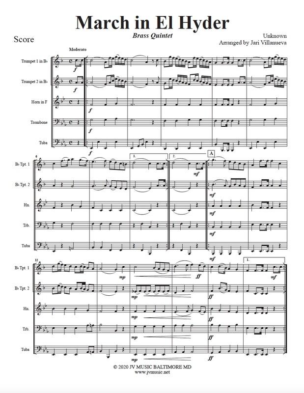 March in El Hyder for Brass Quintet