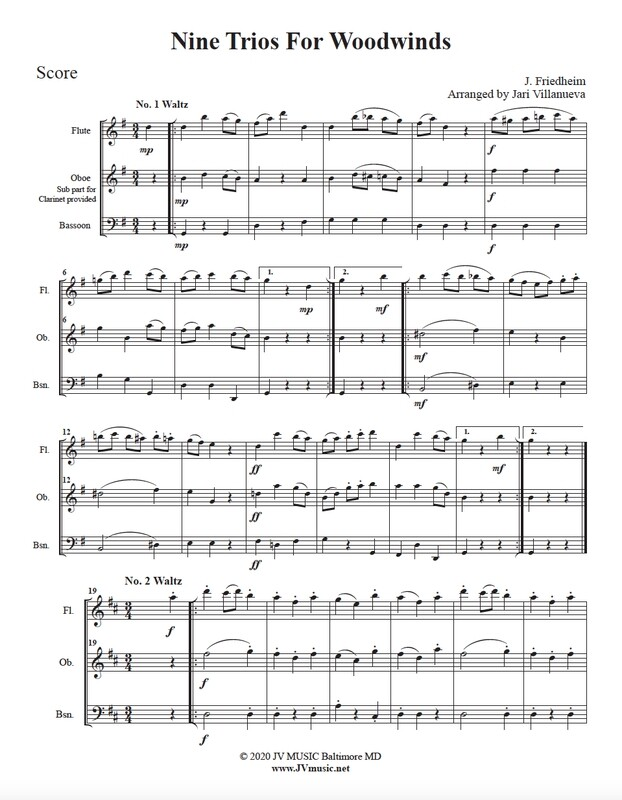 Nine Trios for Woodwinds