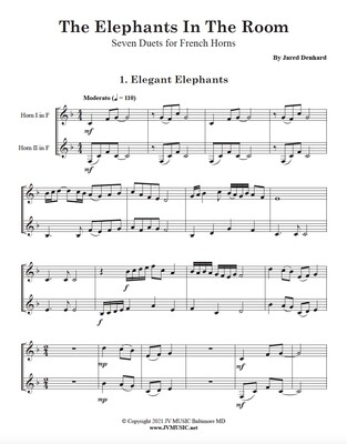 The Elephants in the Room 7 Duets for French Horn