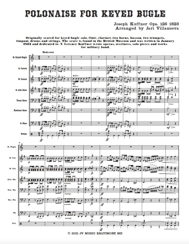 Polonaise for Keyed Bugle and Brass Band