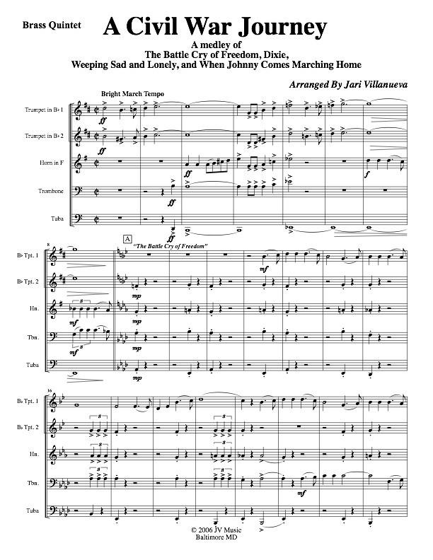 A Civil War Journey for Brass Quintet