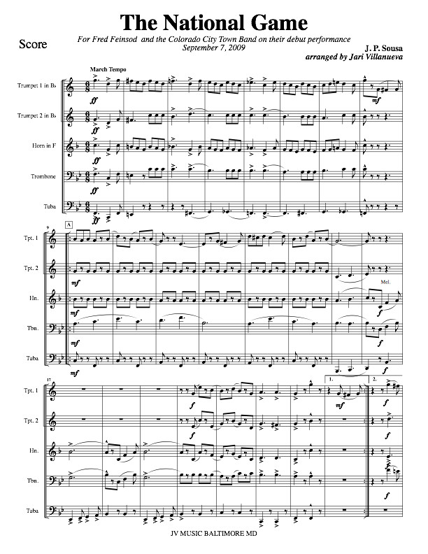 The National Game by John Philip Sousa