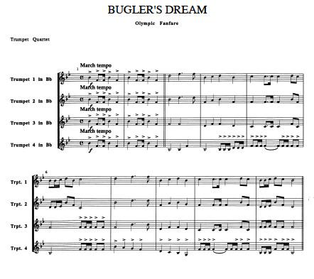 Bugler's Dream for Trumpet Quartet