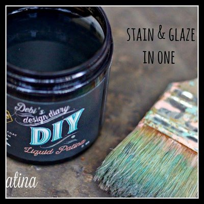 Dark & Decrepit Liquid Patina - low sheen sealer and stain by DIY Paint