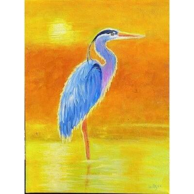 Sunset Heron -- Leanna Leitzke