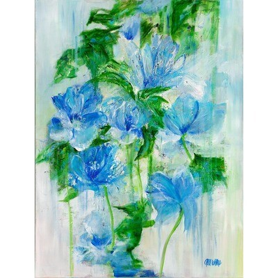 Blooms in Blue -- Anne Waters