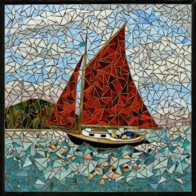 Red Sails on Puget Sound -- Ginger Carter