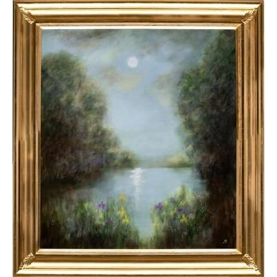 Irises by Moonlight -- Hilda Bordianu