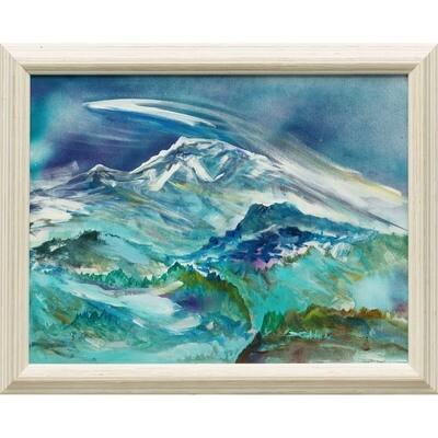 Mount Rainier and Tolmie Peak -- Forrest Goldade