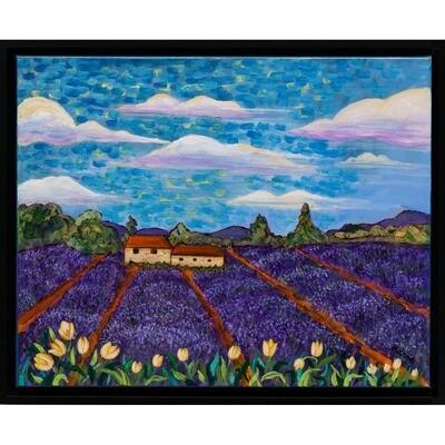 Tulips & Lavender -- Marne Jensen