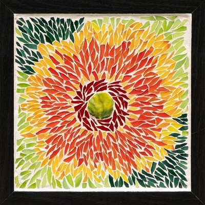 Orange Dahlia -- Ginger Carter