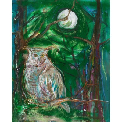 Owl and Moon -- Forrest Goldade