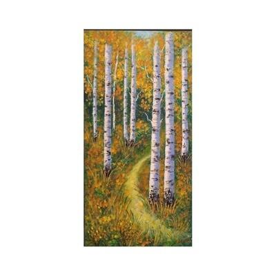 Autumn Birches-I -- Leanna Leitzke
