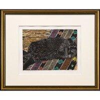 Cat Sleeping Throw Rug Style -- Sylvia Portillo
