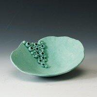 Emerald Fantasy II (bowl) -- Hilda Bordianu