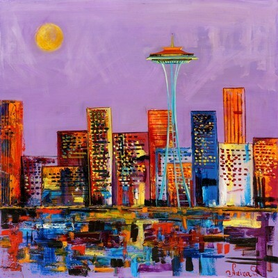 Purple Seattle -- Aziza Saliev
