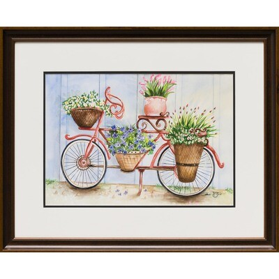 Bicycle and Flower baskets -- Sandi McGuire