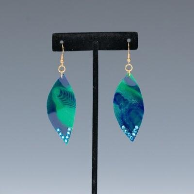 Green Resin Earrings -- Ellen Kenny