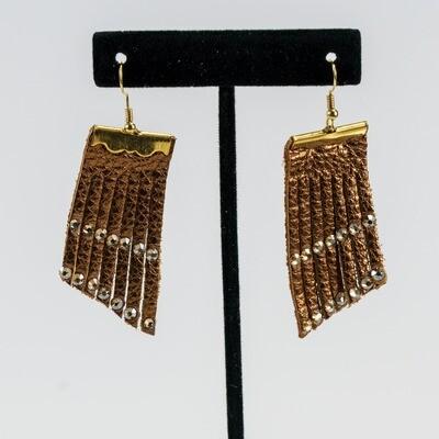 Rustic Bronze Fringe Earrings -- Ellen Kenny