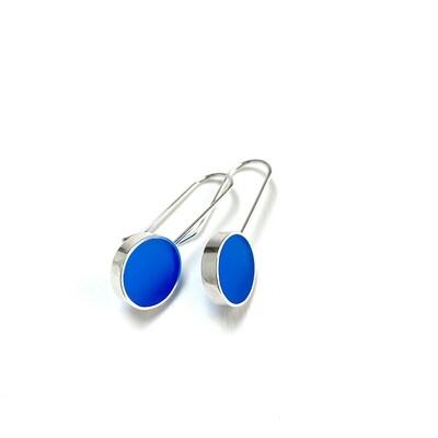 Don't Stop Earrings Blue -- Jennifer Graves