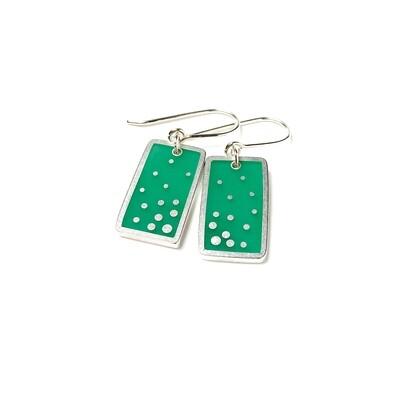 Dashed Earrings Green -- Jennifer Graves