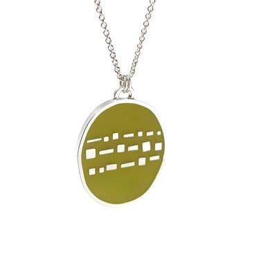 Cobble Necklace Moss -- Jennifer Graves