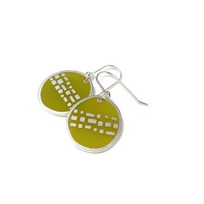 Cobble Earrings Moss -- Jennifer Graves