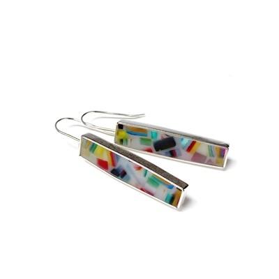 Bauhaus Earrings Multicolored -- Jennifer Graves