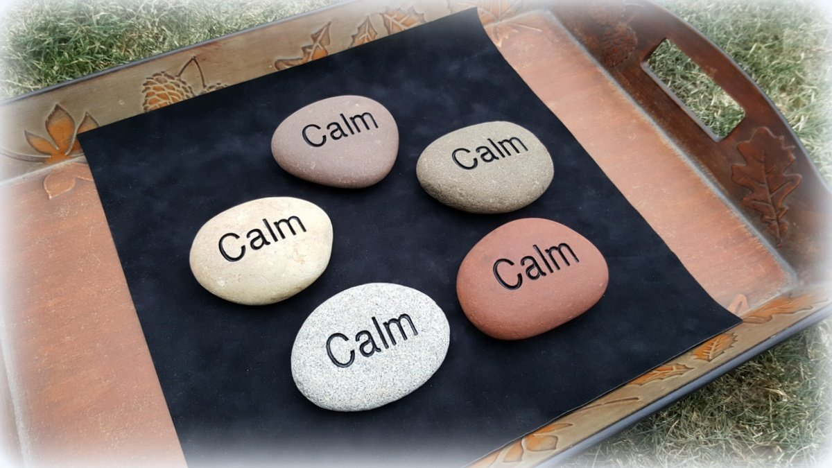 Personalized Palm and Pocket Stones