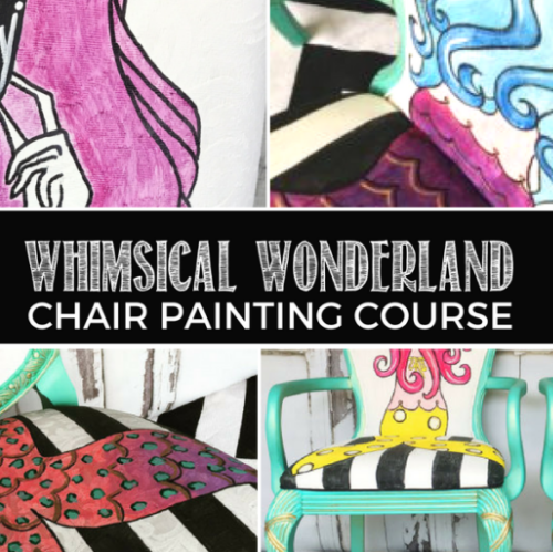 Painted Fabric Chair Tutorial