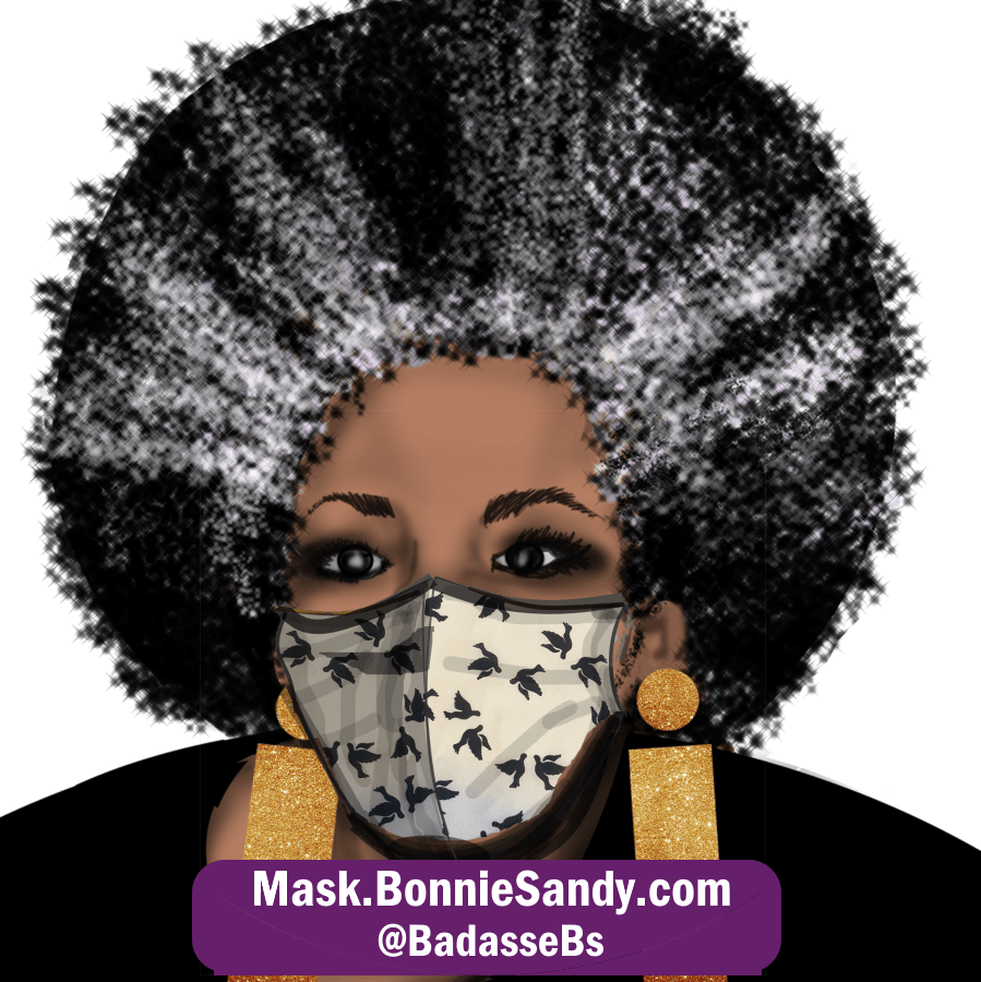Black Bird Diva Face Cover Mask