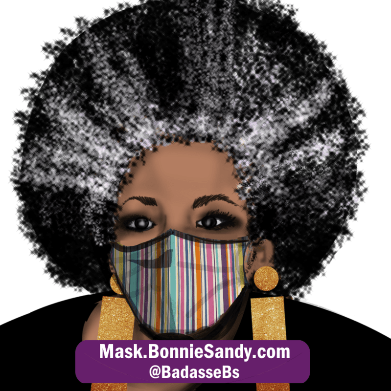 Candy Striper Face Cover Mask