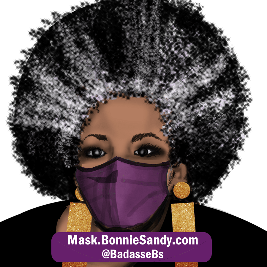 Purple Face Cover Mask
