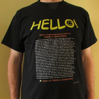 Hello (GDPR privacy) T-shirt