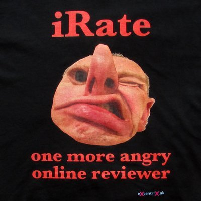 iRate: One More Angry Online Reviewer T-shirt