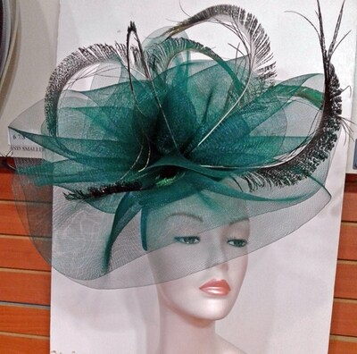 SS/Jade Peacock Fascinator