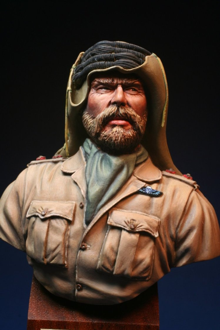 SAS Lieutenant. Painted Bust by Peter Ferk