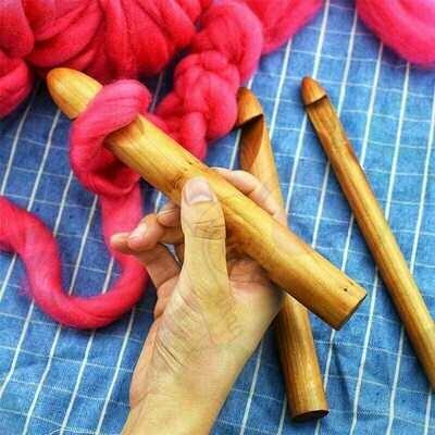 Aguja crochet Súper Gruesas Madera