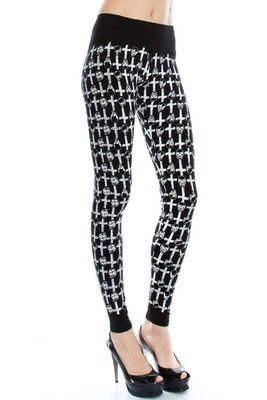 Skull and Cross Leggings