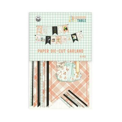 P13 Around The Table paper die-cut banner 15 pcs