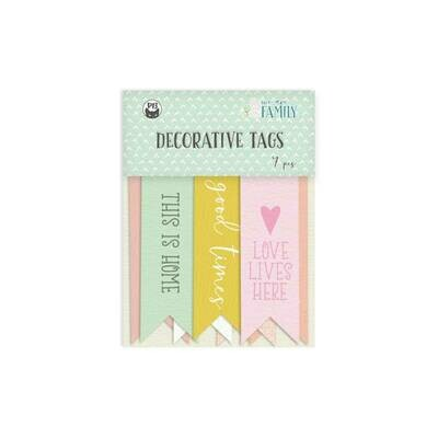P13 We Are FamilyDecorative tags 02 7 pcs