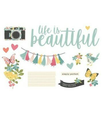 Simple Pages Page Pieces LIFE IS BEAUTIFUL