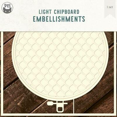 P13 Light Chipboard Album Base EMBROIDERY HOOP 01