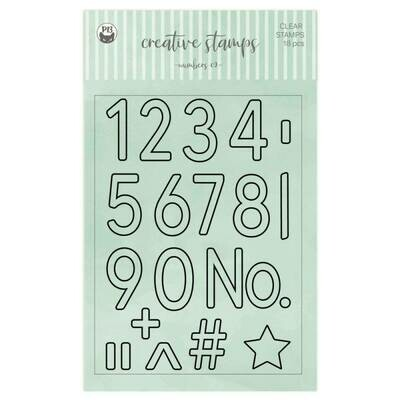 P13 Clear Stamps Numbers 02 A6