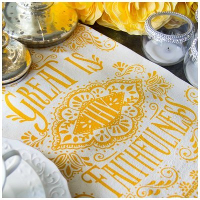 Great Is Thy Faithfulness Hymn Flour Sack Tea Towel