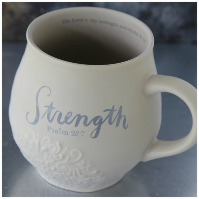 Strength Stoneware Scripture Mug