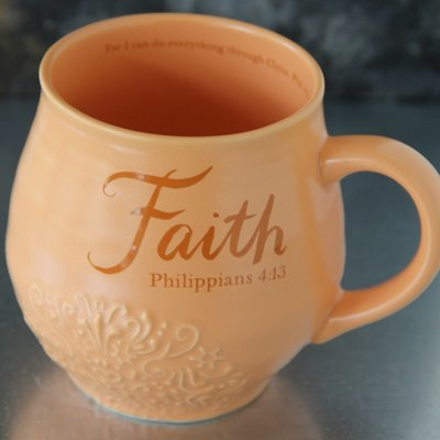 Faith Stoneware Scripture Mug
