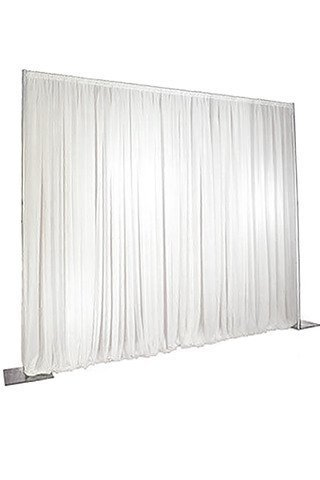 pleated white backdrop curtain 6m x 3m